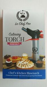 Le chef pro Kitchen Blow Torch Culinary Double Flame Cooking Lighter Chef Tool
