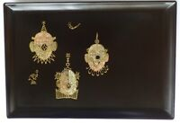 Couroc of Monterey Clowns Inlaid Metal Tray Rare Piece Circus