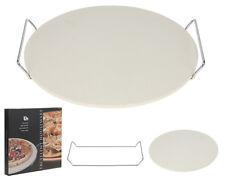 Pietra refrattaria rotonda per la cottura di pane e pizza in forno 33cm