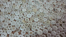 LOT OF 1000+ VINTAGE ANTIQUE WHITE CHINA GLASS 2 HOLE 4 HOLE BUTTONS