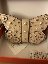 Kate Spade Leather Stud Butterfly Card Case Key Chain