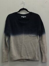 Olivia Sky Womens Blue Gray Angora Blend Front Pocket Pull-Over Sweater - M
