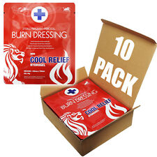 10 Packung, Blue Lion 10cm X 10cm Notfall- Burncare Brennt Wunde Gel Umkleide
