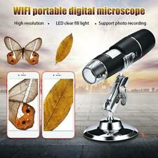 1000X Wifi Digital Microscope Magnifier Camera 8LED w/Stand for Android iPhone