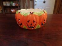 Royal Norfolk Ceramic Halloween Pumpkin/Jack O'Lantern Candy Dish #2190