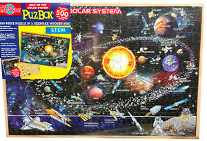 500 Piece Wooden Puzzle Map of The Solar System PuzBox Kid Puzzle Toy