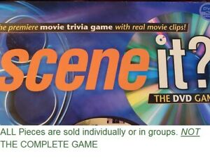 U-PICK Scene It? Movie Trivia DVD Game Replacement Pieces Pawns Movers Dice