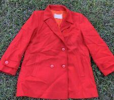 Pendelton Vintage Womens Wool Peacoat Red Large