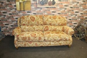 PARKER KNOLL OAKHAM, HENLEY LARGE 2 SEATER SOFA IN CUBA FLORAL FABRIC