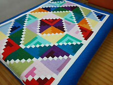 Holiday Sale Twin size Machine pieced and quilted quilt #J-74Qt