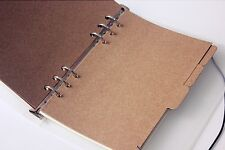 New A6 6 Hole Filofax Kraft Indexing Dividers Sheets for Journal Note Book Diar