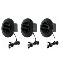 (3) Malibu 8401-9403-01 LED Deck Step Round Recessed Light Low Voltage BLACK NEW