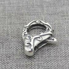Sterling Silver Lobster Claw Trigger Clasp Spiral Floral for Bracelet Necklace