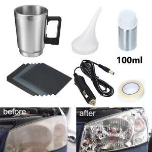 Car Headlight Cover Cleaning Restore Lamp Lens Fluid Polishing Repair Kit Tool