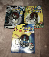3 x Pokémon Keychain Diamond & Pearl Poke Ball Keyring Pack Series 13 16 20 NEW