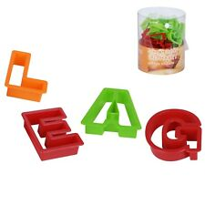 Alphabet Cookie Cutters Uppercase Biscuit Baking Fondant Playdough 26pc Letters