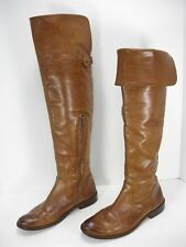 FRYE SHIRLEY 77739 COGNAC LEATHER OVER THE KNEE RIDING BOOTS WOMEN'S 7.5 B