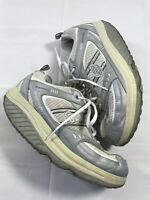 Skechers Shape-Ups Size 9.5 White Silver Gray 11814 Women's Athletic Shoes
