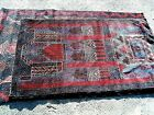 """MESHED BELOUCH HAND KNOTTED RUG 66"""" X 36"""" SUPERB CONDITION"""