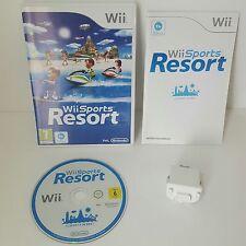 Wii SPORTS RESORT + originale ufficiale Nintendo Motion Plus Dongle Aggiungi Su Accessorio