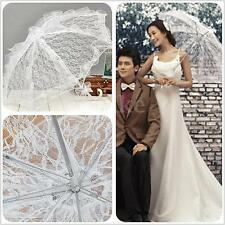White Lace Parasol Umbrella Flower Bride Wedding Party Taking Pictures Props