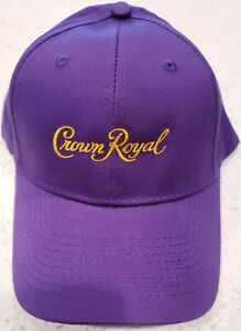 CROWN ROYAL Strapback Cap Hat - Purple - Embroidered - Port & Company - NEW