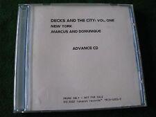 DECKS & THE CITY Vol. ONE NEW YORK.. Marcus & Dominique (Promo Album)
