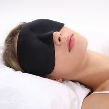 Sleep Mask 'LUNA' Ultralight 3D Contoured with Free Pouch and Earplugs