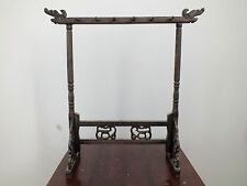 CHINESE WOODEN DRAGON CALLIGRAPHY PAINTING 12 BRUSH JAPANESE CRAFT STAND REST A2