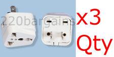 3PK Universal North American Plug Adapter Euro Asia Plug to USA style
