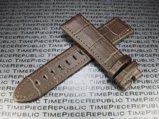 Brown 22mm Genuine Leather Strap Stitch Band MONTBLANC Timewalker II c