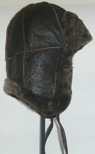 NEW! mens/womens Sheepskin Bomber - Aviator Hat Real Leather winter size S