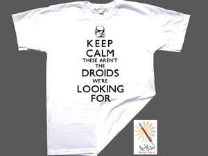 T-shirt KEEP CALM...DROIDS WE'RE LOOKING FOR. STAR WARS. Jedi/Kenobi S-XXXL
