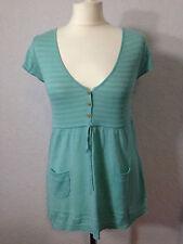 White Stuff mint green/blue linen mix knitted top 12