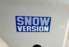 Toyota Altezza Aristo Celsior BB Vitz Snow Version sticker JDM Original