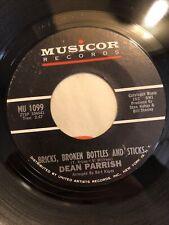 DEAN PARRISH ~ BRICKS BROKEN BOTTLES AND STICKS ~Rare Orig. '65 Northern Soul 45