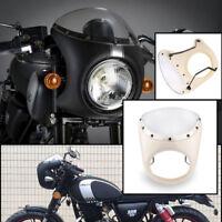 """7"""" Motorrad Scheinwerfer Verkleidung Universal Lampenmaske für Harley Cafe Racer"""