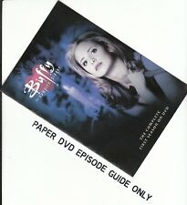 BUFFY - Season 1: PAPER EPISODE GUIDE BOOKLET ONLY - NO DISCS INCLUDED)