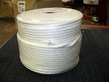 "Solid Braid MFP Rope 5/16"" Dia. Tensile Strength 1200 White 500 Foot # 505036 Ne"