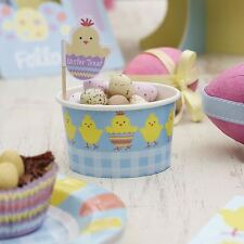 8 Easter Chick Sweetie Food Tub Ice Cream Bowl Party Table Ware Decor Fun Basket