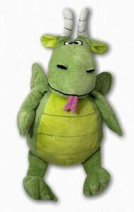 Happy Nappers Green Dragon & Castle Children's Stuffed Animal Reversible Pillow
