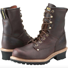 "Carolina 8"" Elm Steel Toe Logger Brown Leather Boots 1821"