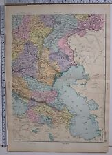1891 ANTIQUE MAP ~ RUSSIA SOUTH EAST KARS TRANSCAUCASIA ASTRAKHAN SUKHUM