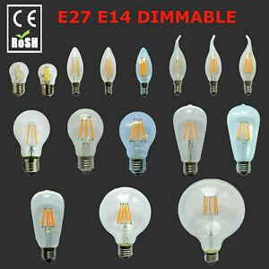 Dimmable  E14 E27 B22 2/4/6/8/12W LED Edison Retro Filament Light Lamp Bulb