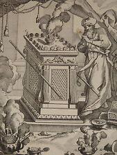 RARE Gravure XVIII TABERNACLE ENCENS JUDAICA ANCIEN TESTAMENT ISRAEL JUIFS 1780