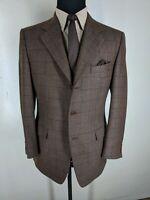 CANALI  Vintage  100% Wool Sport Coat  3 Btn Side Vents 40 Reg--Fit 41-43 Reg