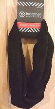 Isotoner Casual Black Chenille Textured Infinity Scarf - MSRP $36