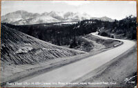1957 Realphoto Postcard: Pikes Peak, Ute Pass Hwy - Woodland Park, Colorado CO