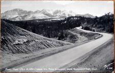 1957 Realphoto Postcard: Pikes Peak, Ute Pass Hwy - Woodland Park, Colorado CO