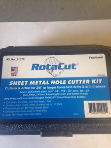Hougen 11075 - 11,000 Series Sheet Metal Hole Cutter Kit
